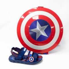 Sandália Grendene 22368 Marvel Capitão América com mochila de Escudo