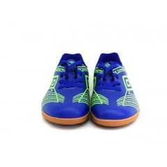Tênis Futsal Kicker III Juvenil Azul/Verde