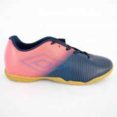 Tênis Umbro 0F72086 Vibe Coral/Marinho Futsal