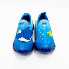 Tênis Bibi 545247 Space Wave LED Baby Shark Azul