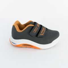Tênis Kidy 034-0070-4954 Hoox com Respi-Tec Velcro Cinza