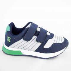 Tênis Klin 216028000 Baby Walk Marinho/Branco