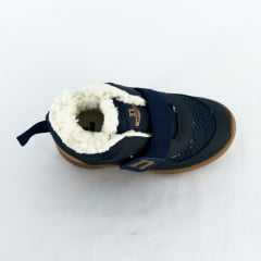 Tênis Novopé 200N304 Revestido em Lã com Velcro Marinho